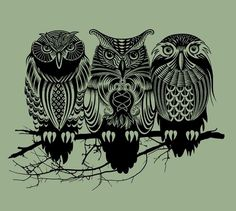 Owls of the Nile Art Print | Society6 #caldwell #illustration #rachel #owls