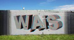 cbe8ed6ff33c2e737eedfc76a90893a5.jpg 600×329 pixels #graffiti #wais #3d #art