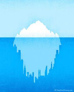 The Art of Negative Space: Part II on Behance #iceberg #poster
