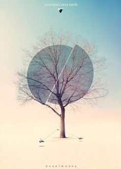 Flyerfolio – A showcase for awesome flyer designs» Blog Archive » Save Trees Save Earth #poster