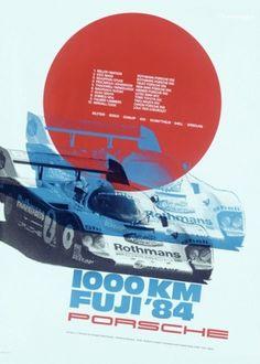 grain edit · Vintage Porsche Posters #1000 #fuji #km #c #designer #conce #gruppe #84