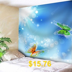 Butterfly #Print #Wall #Hanging #Tapestry #- #SKY #BLUE