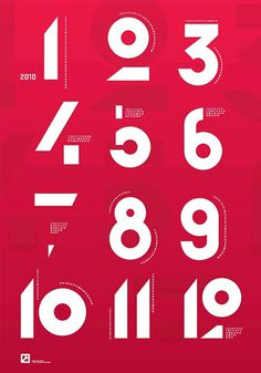 Numbers #font #design #graphic #typo #typography
