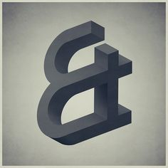 Ampersand #illustration #ampersand #painting #illusion #and #greyscale #impossible #3d