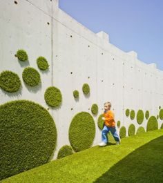 wall, circle, urban, green