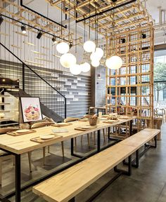 Luminous Restaurant Space by Zones Design - InteriorZine