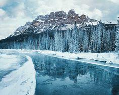 Winter Scenes of Banff National Park by Tasha Marie