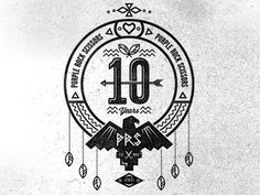 Dribbble - PRS 10 Year Crest Pt4 by Adam Grason #logo #illustration #typography