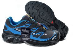 Salomon S-LAB XT5 Black Blue Running Shoe #shoes