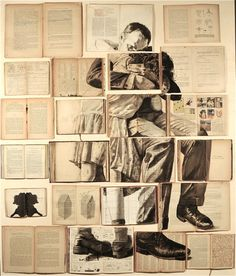 20+ Clever and Cool Old Book Art Examples #old #book #art