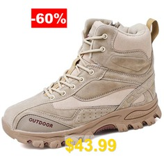 Men's #Comfortable #Foot #Protects #Large #Size #Boots #- #BEIGE
