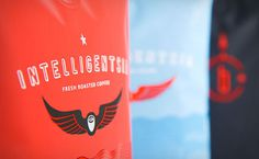 Intelligentsia Coffee Gear Patrol -- Coffee. Colors. Design yummies #packaging #coffee