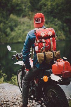 Likes | Tumblr #moto #photography #yamaha #rucksack #overland