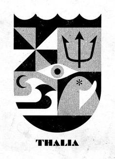 Sheild #illustration #white #black #and