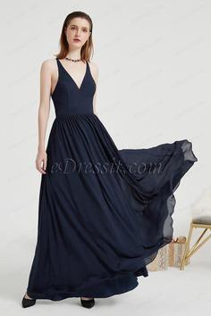 eDressit Blue V-Cut Back Lace Party Long Evening Dress (00203805)