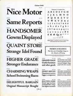 Cloister Bold type specimen #typography