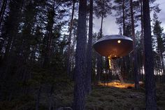 The UFO #hotel #cabin #sweden