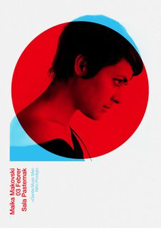 poster #blue #red #face #circle #multiply