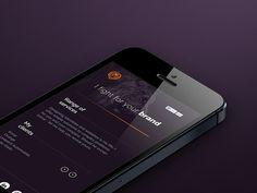 Personal website / mobile #user #smartphone #mockup #interface #ui #website