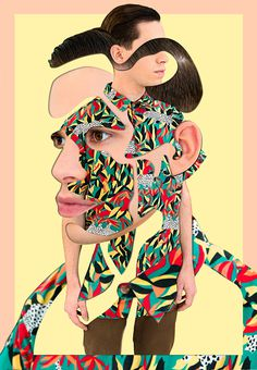 Self-portrait on Behance #collage