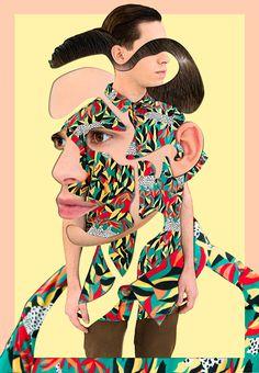 Self-portrait on Behance #collage