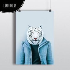 #animals #clothe #fashion #wild #tiger #poster