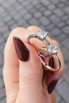 There are so many beautiful designs of the rings – with stunning diamonds, vintage-inspired or fantastic art-deco engagement rings.
