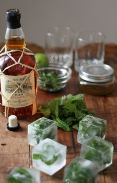 Cubes #rum #cubes #drinks #mint