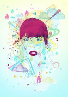 We Love Love Design #poster #colorful #girl #pop