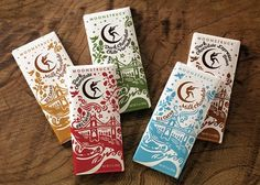 Moonstruck Chocolate Classic range | Kate Forrester #illustration #lettering