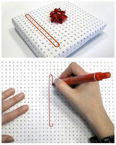DIY wrapping paper - #DIY