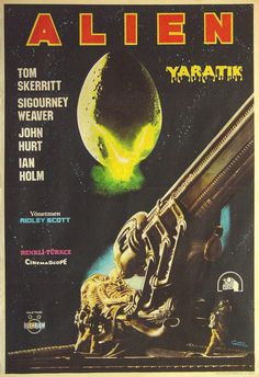 MoviePostersOld, Turkish poster for Alien (Ridley Scott, 1979) ...