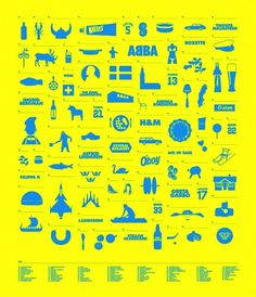 Sweden / Subdisc.com #sweden #yellow #icons #abba #blue
