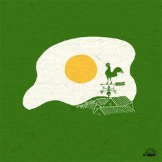 Doodle Everyday #breakfast #ilovedoodle #illustration #farm #morning