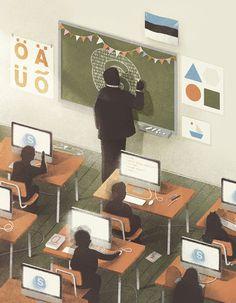 Karolis Strautniekas #school #illustration #future #skype