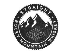 Rocky Mountain Whiskey #seal #logo #identity