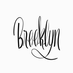 BKLYN | @spencerventure | spencerventure.com #lettering #handdrawn #logo #letterforms #penandink #ink #digital #blackandwhite #brushletter