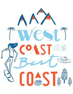 LA, west coast #illustration #patten #shirts #typography