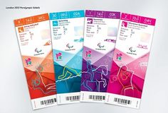 Creative Review - Olympics ticket designs revealed #olympic #london #2012 #paralympic #ticket