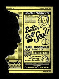 'Gotta Call Saul' In The Latest Piece of 'Breaking Bad' Art | /Film #chris #phone #delorenzo #saul #retro #book