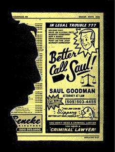 'Gotta Call Saul' In The Latest Piece of 'Breaking Bad' Art | /Film #chris #phone #delorenzo #saul #retro #book