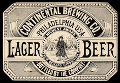 Vintage Beer / Continental Brewing #beer #vinage #label