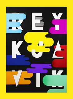 REYKJAVIK EXHIBITION - Showusyourtype on Behance #showusyourtype #white #cutter #black #paperboard #exhibition #behance #photography #colors #poster #marco #reykjavik #oggian #gold #still #paper #life #typography