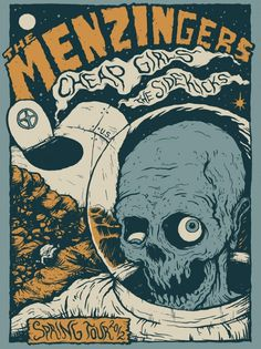 FYI Monday Brunofsky The Menzigners Tour Poster #gig #poster #illustration