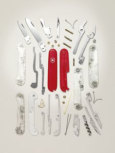 swiss knife #inspiration #creative #knolling #examples #photography #knoll #organization