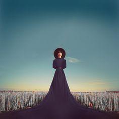 photo #field #nightmare #american #horror #dream #black #blue #dress