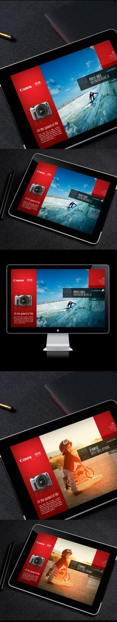 Canon EOS M / Campaign Microsite on Behance #photos #ui #website #photography #app