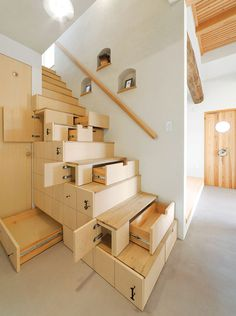 Space-Saving Stairs #interior design #decoration #decor #deco