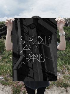 Street Art Paris - identity on the Behance Network #paris #banner #print #art #street #typography