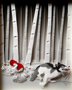 Paper Layers Can Create Stunning Art « BLOGNATOR #red #riding #little #hood #paper